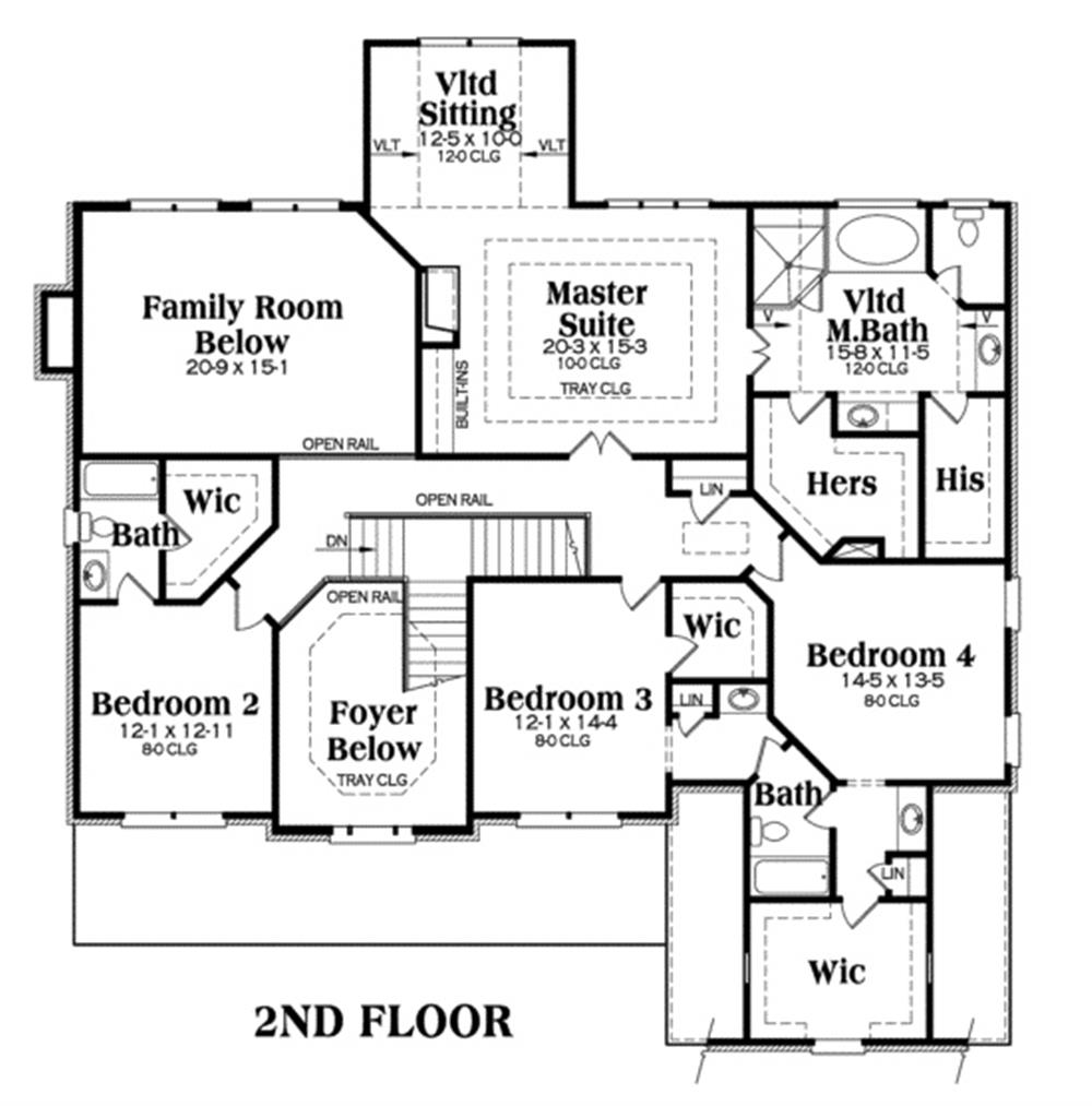 House Plan Highland Second Floor Plan