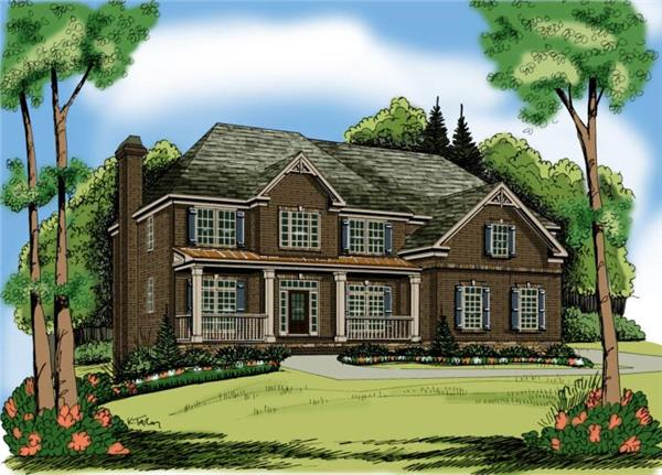 Main image for traditional house plan # 17038