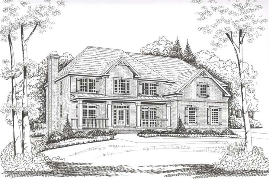House Plan Highland Front Elevation