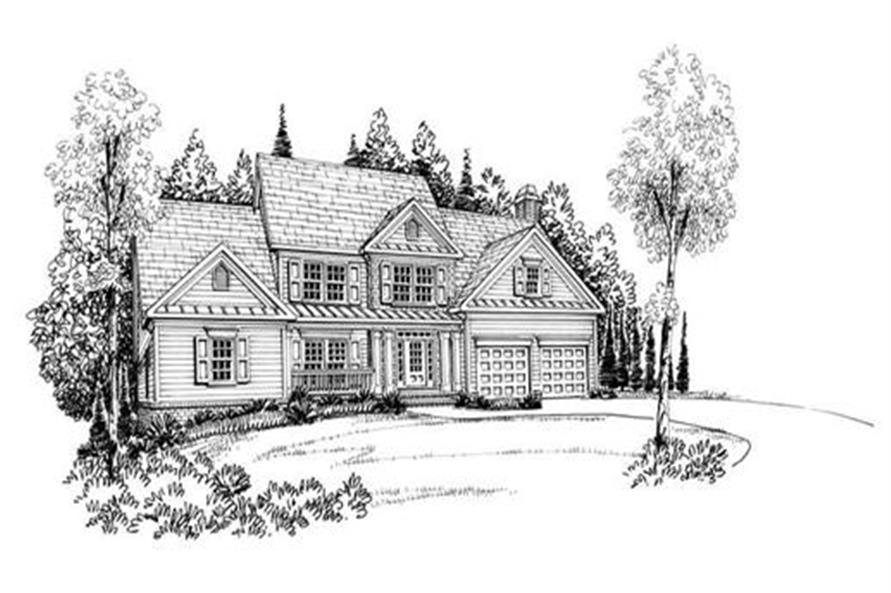 Home Plan Rendering of this 3-Bedroom,2351 Sq Ft Plan -104-1054