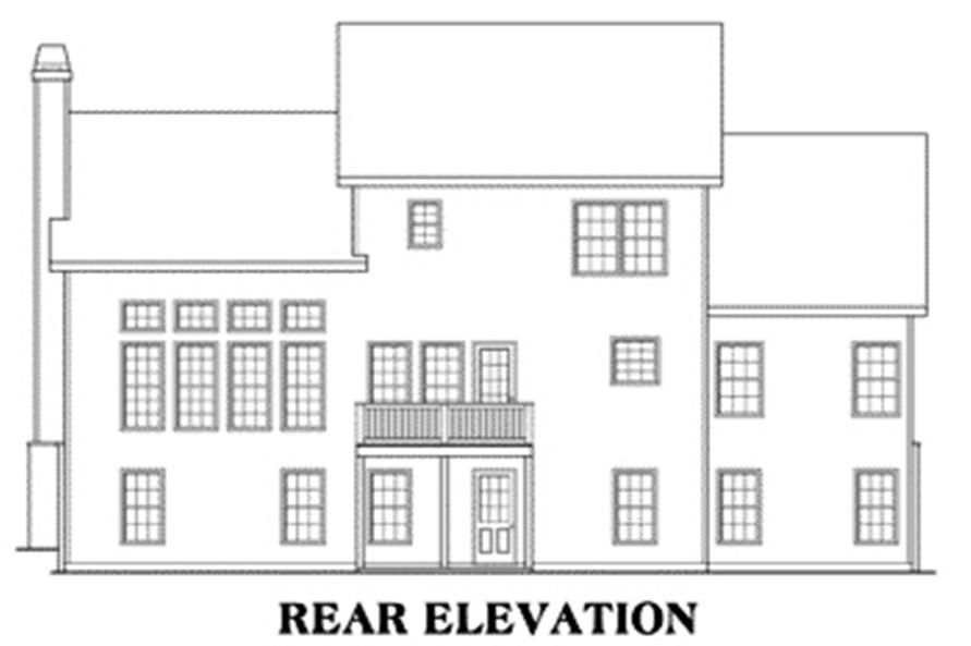 House Plan Harrison Rear Elevation