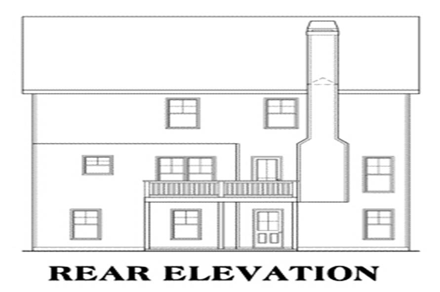 House Plan Washington Rear Elevation