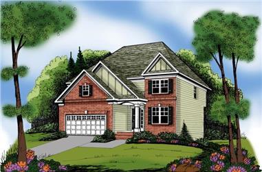 4-Bedroom, 2228 Sq Ft Traditional Home Plan - 104-1055 - Main Exterior