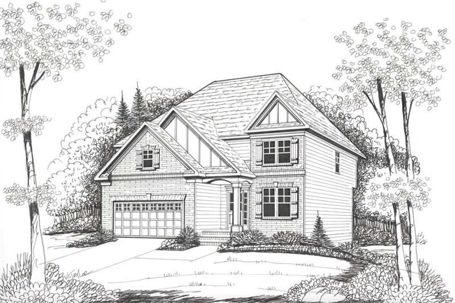 Front Elevation of this 4-Bedroom,2228 Sq Ft Plan -2228