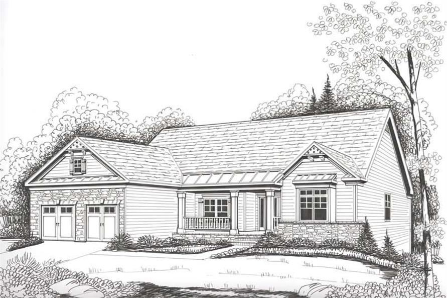 Home Plan Rendering of this 4-Bedroom,2221 Sq Ft Plan -104-1056
