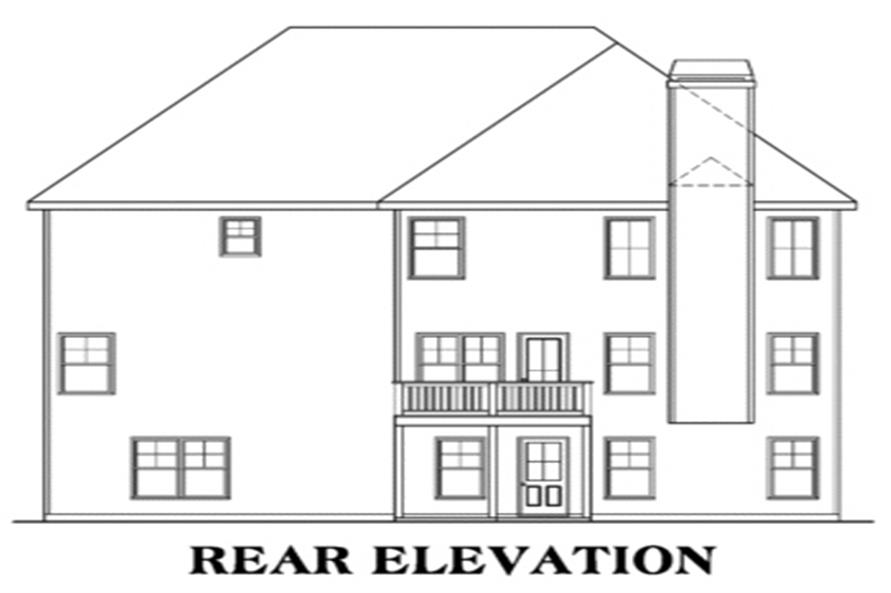 House Plan AG-Elizabeth Rear Elevation