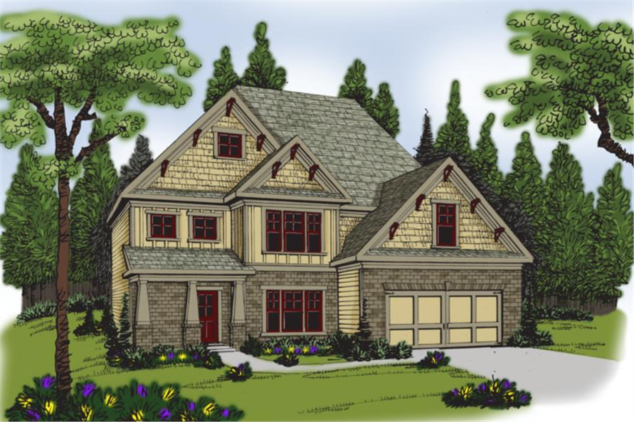 104-1057: Home Plan Rendering