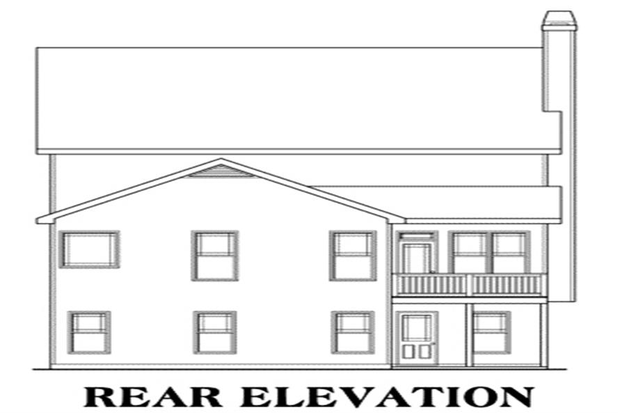 Home Plan Rear Elevation of this 3-Bedroom,2020 Sq Ft Plan -104-1058