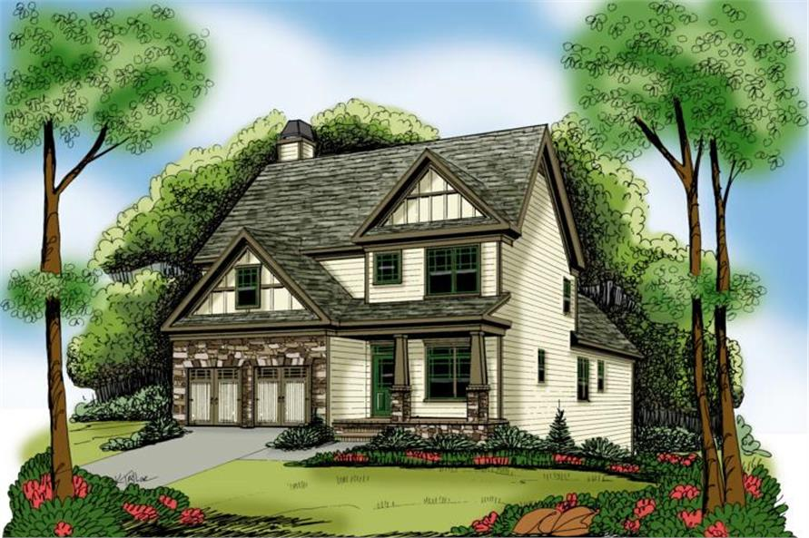 3-Bedroom, 2020 Sq Ft Craftsman Home Plan - 104-1058 - Main Exterior