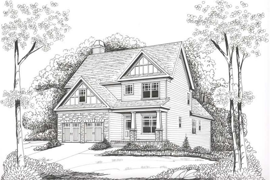 Home Plan Rendering of this 3-Bedroom,2020 Sq Ft Plan -104-1058