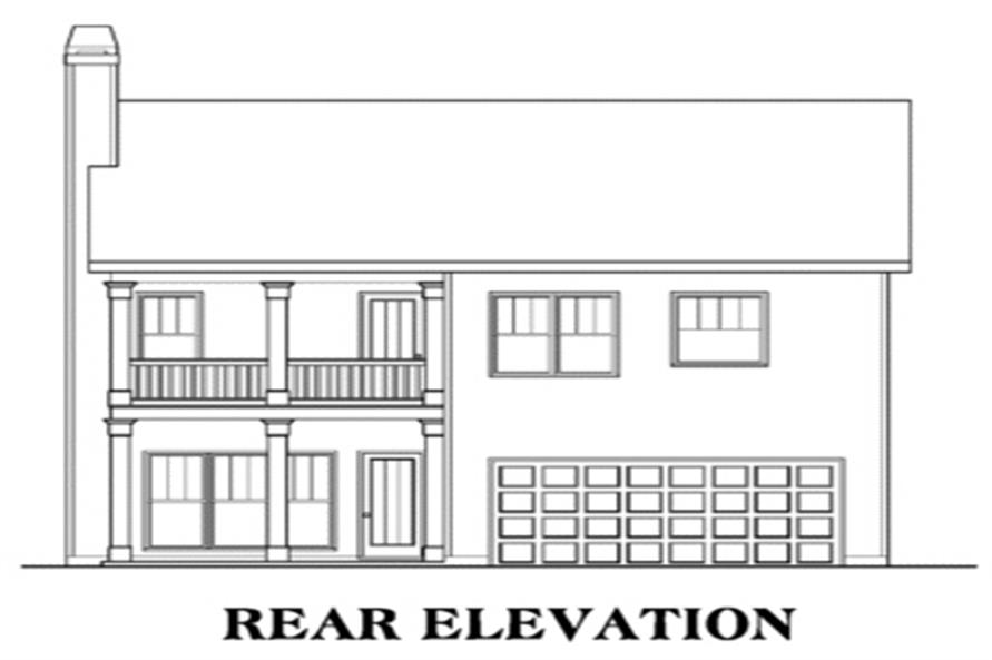 House Plan AG-Savannah Rear Elevation