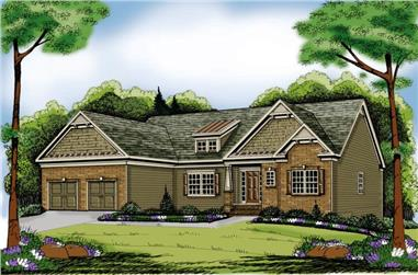 4-Bedroom, 2225 Sq Ft Craftsman House Plan - 104-1060 - Front Exterior