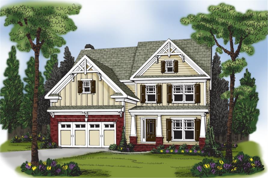 Home Plan Rendering of this 4-Bedroom,2506 Sq Ft Plan -104-1061
