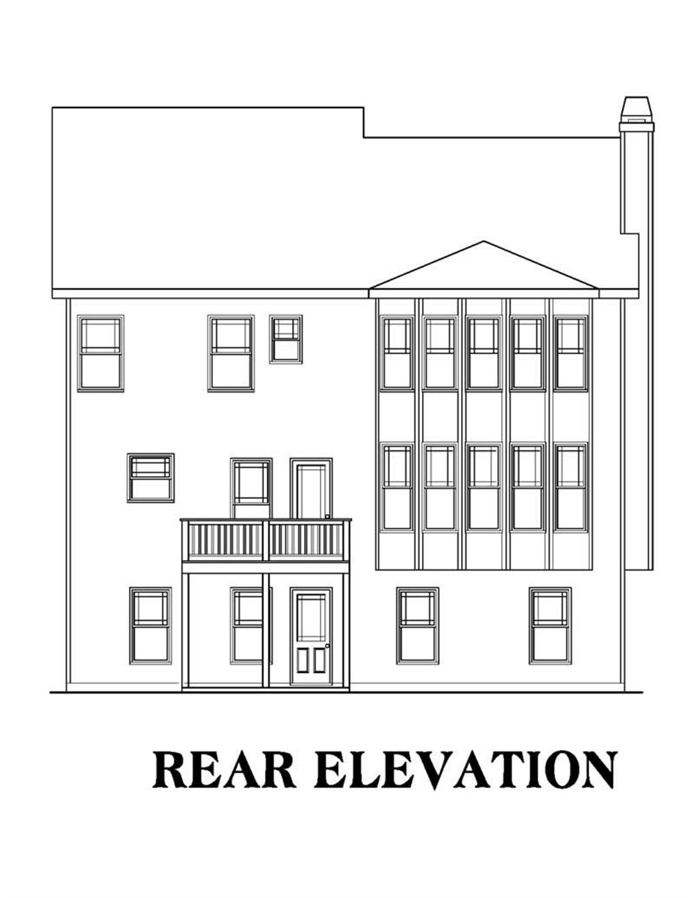 Rear Elevation Plan : Large images for house plan