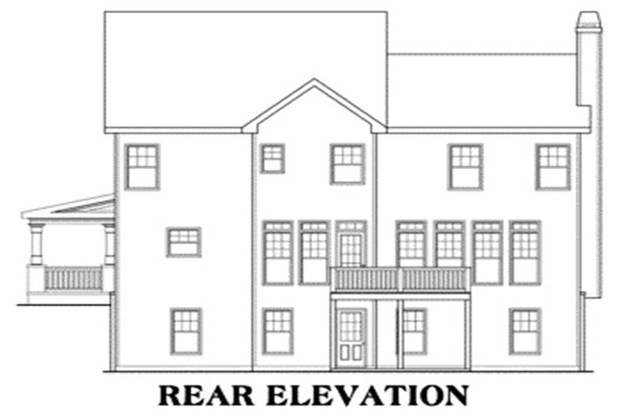 House Plan Vickery Rear Elevation
