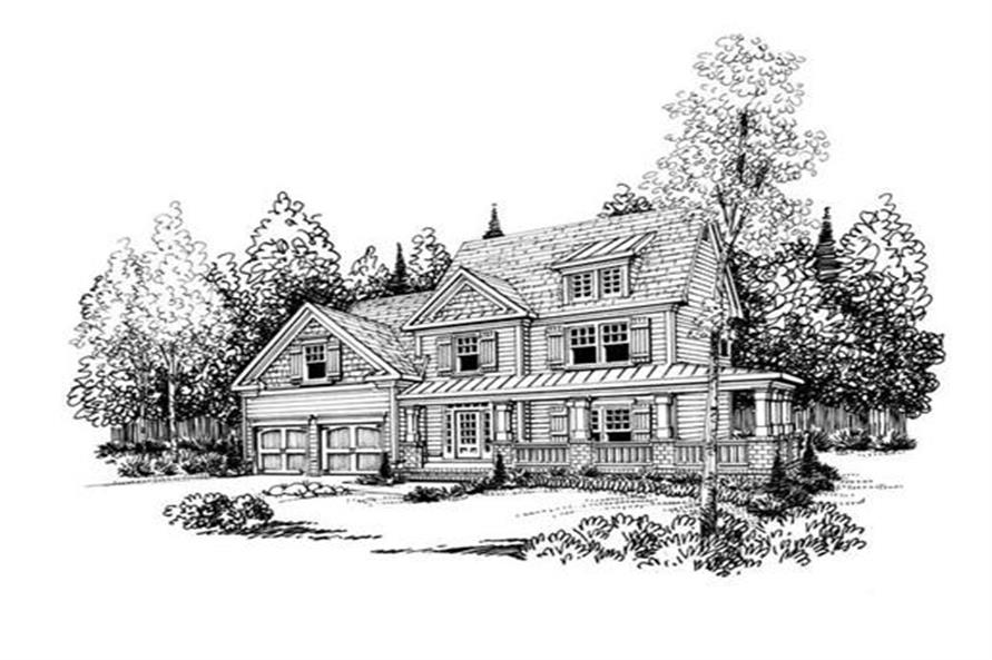 House Plan Vickery Front Elevation