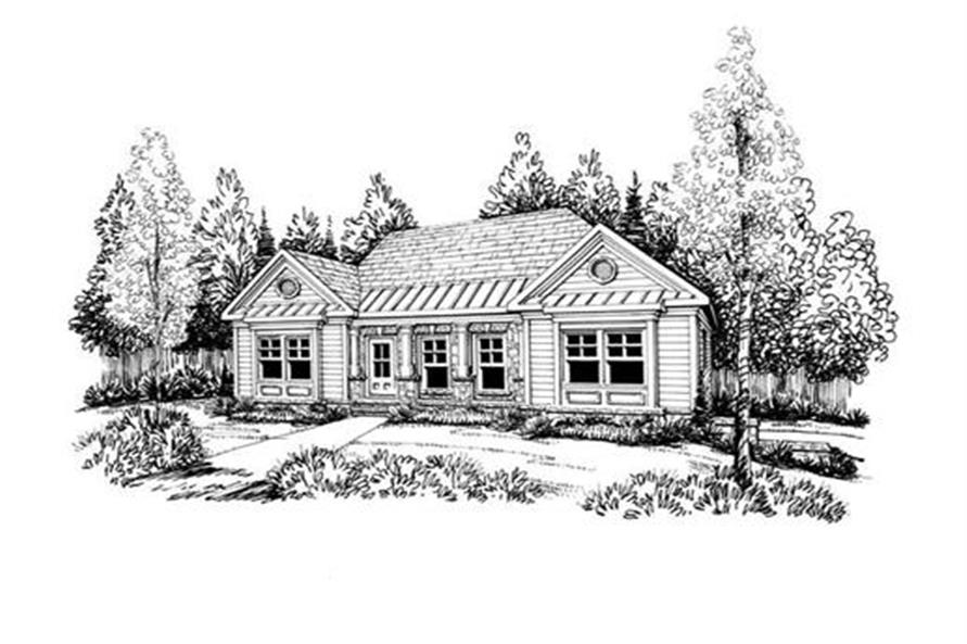 Home Plan Rendering of this 3-Bedroom,1669 Sq Ft Plan -104-1063
