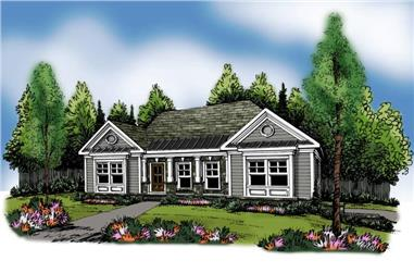 3-Bedroom, 1669 Sq Ft Ranch House Plan - 104-1063 - Front Exterior
