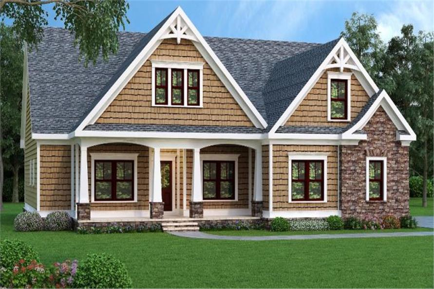 104-1064: Home Plan Front Elevation