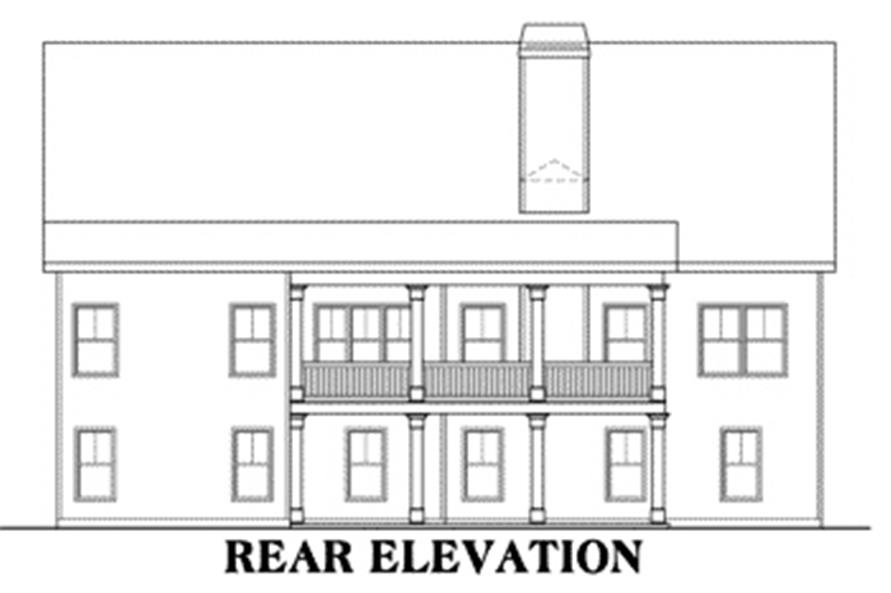 Home Plan Rear Elevation of this 3-Bedroom,1946 Sq Ft Plan -104-1064