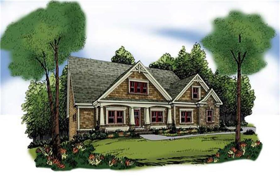 Home Plan Rendering of this 3-Bedroom,1946 Sq Ft Plan -104-1064
