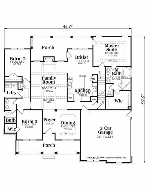 House Plan Davenport Main Floor Plan