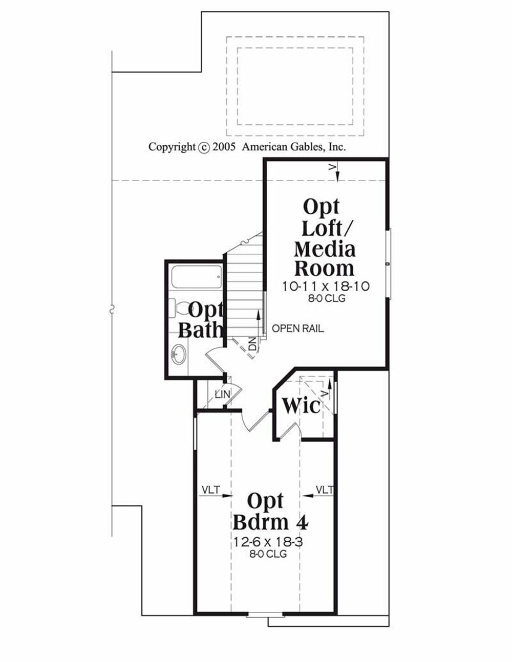 House Plan Davenport Second Floor Plan