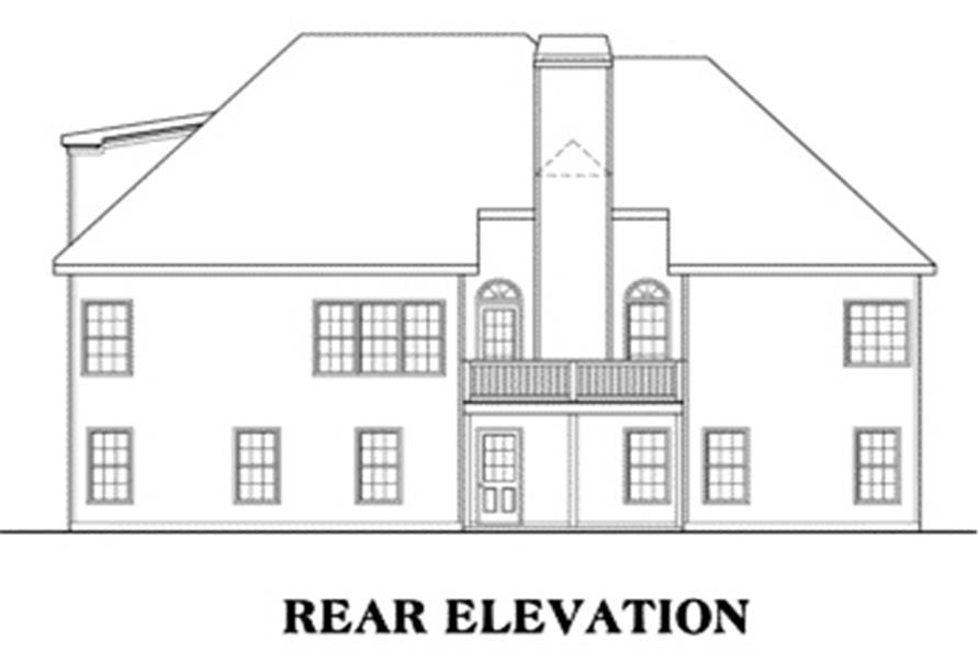 House Plan AG-Fairmont Rear Elevation