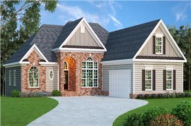 4-Bedroom, 2068 Sq Ft Traditional Home Plan - 104-1065 - Main Exterior