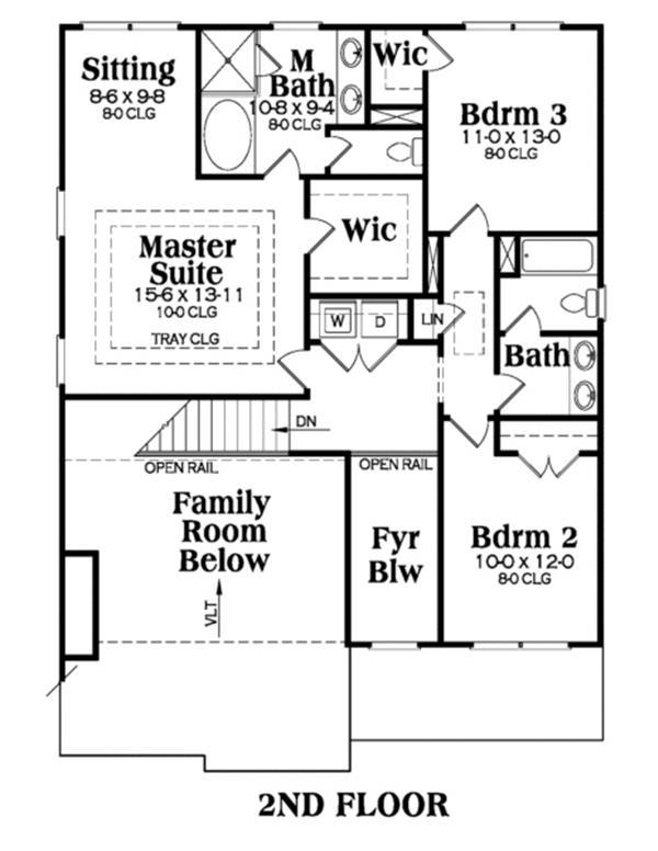 House Plan AG-Lynbrook Second Floor Plan