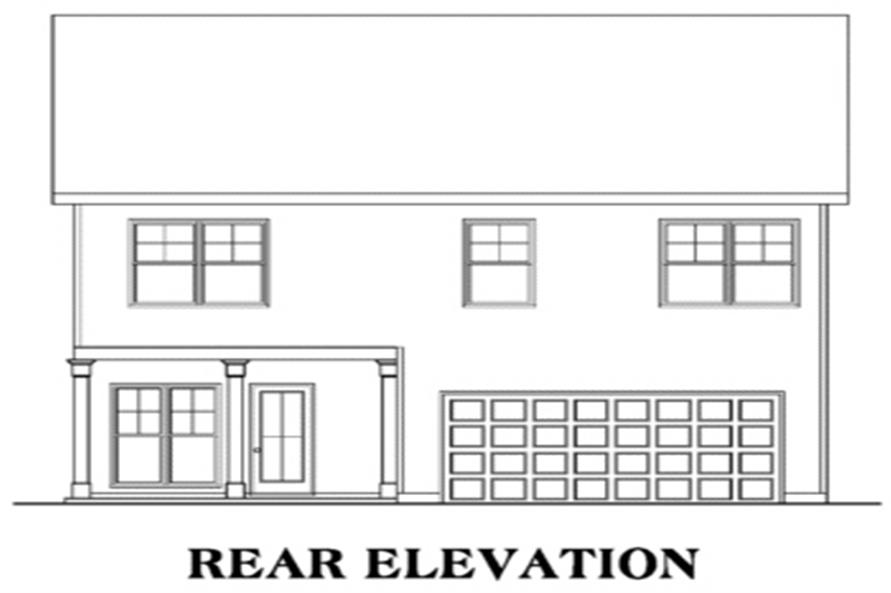 House Plan AG-Lynbrook Rear Elevation