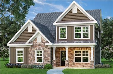 3-Bedroom, 2044 Sq Ft Traditional House Plan - 104-1066 - Front Exterior