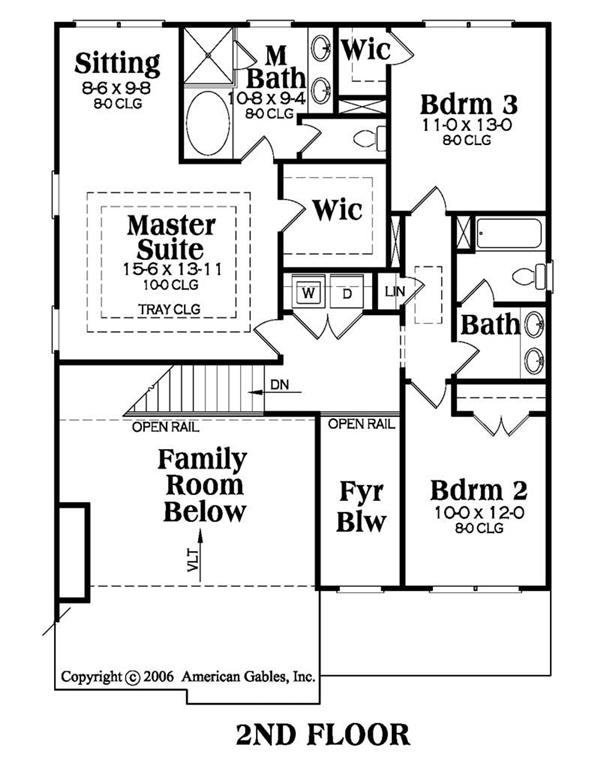 House Plan AG-Lynbrook Second Floor Plan