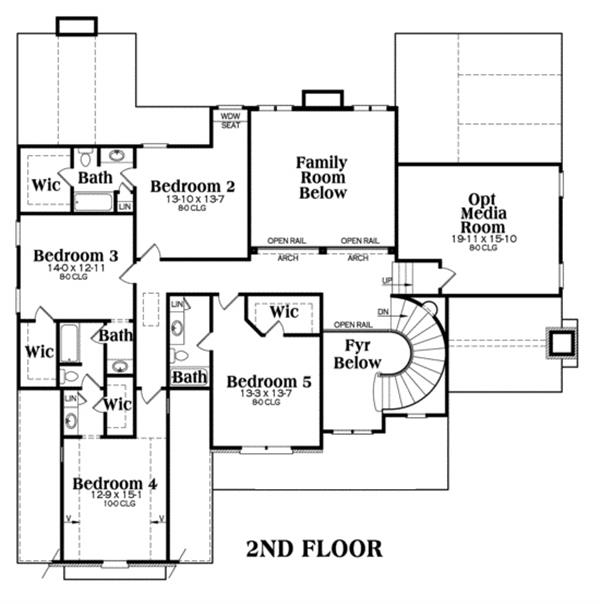 104-1067: Floor Plan Upper Level
