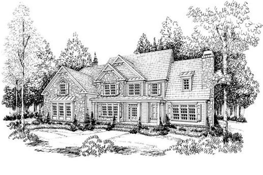 Home Plan Rendering of this 5-Bedroom,4083 Sq Ft Plan -104-1067