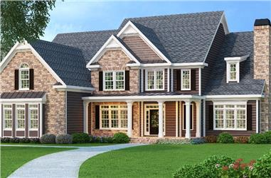 5-Bedroom, 4083 Sq Ft Luxury Home Plan - 104-1067 - Main Exterior