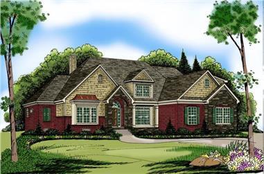 4-Bedroom, 3793 Sq Ft European Home Plan - 104-1068 - Main Exterior