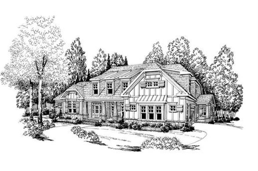 Home Plan Rendering of this 4-Bedroom,3763 Sq Ft Plan -104-1070