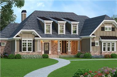 4-Bedroom, 3763 Sq Ft Luxury Home Plan - 104-1070 - Main Exterior