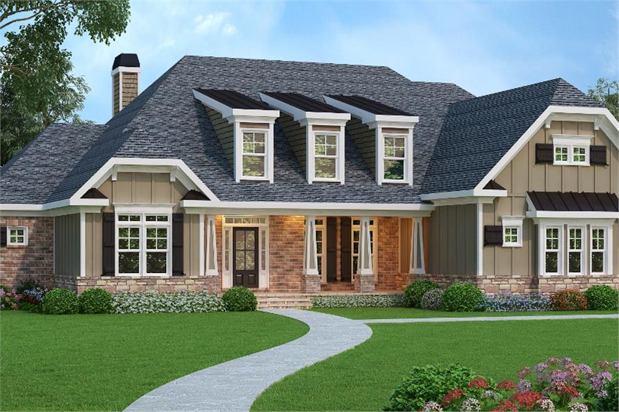 4-Bedroom, 3763 Sq Ft Luxury Home Plan - 104-1070 - Main Exterior