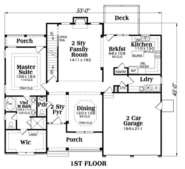 104-1071: Floor Plan First Story
