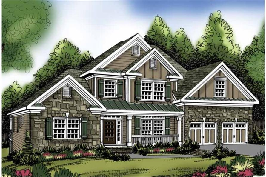 Front Door of this 3-Bedroom,2276 Sq Ft Plan -2276