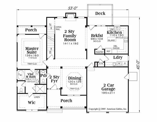 House Plan Chatham Main Floor Plan