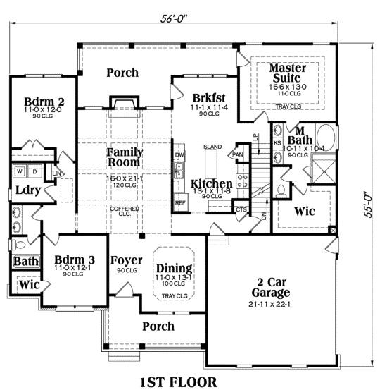 House Plan Madison Main Floor Plan