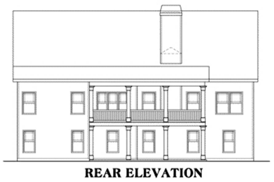 Home Plan Rear Elevation of this 3-Bedroom,1934 Sq Ft Plan -104-1073