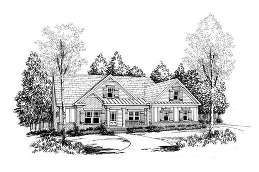 Front Elevation of this 3-Bedroom,1934 Sq Ft Plan -1934