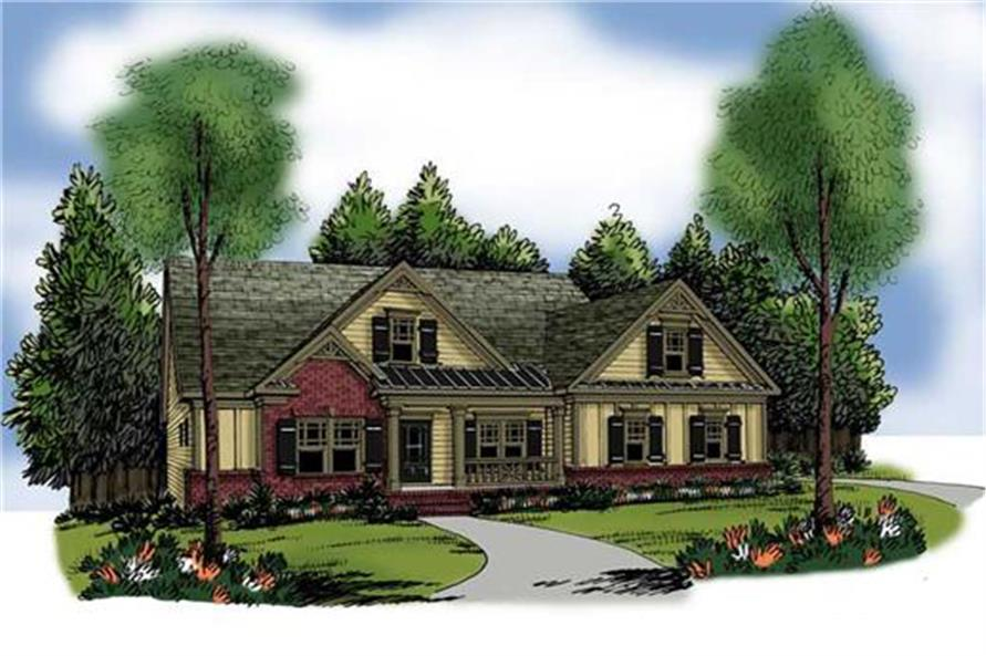 Home Plan Rendering of this 3-Bedroom,1934 Sq Ft Plan -1934