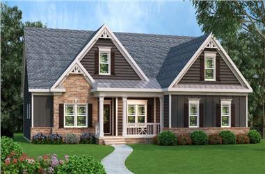 3-Bedroom, 1934 Sq Ft Craftsman House Plan - 104-1073 - Front Exterior