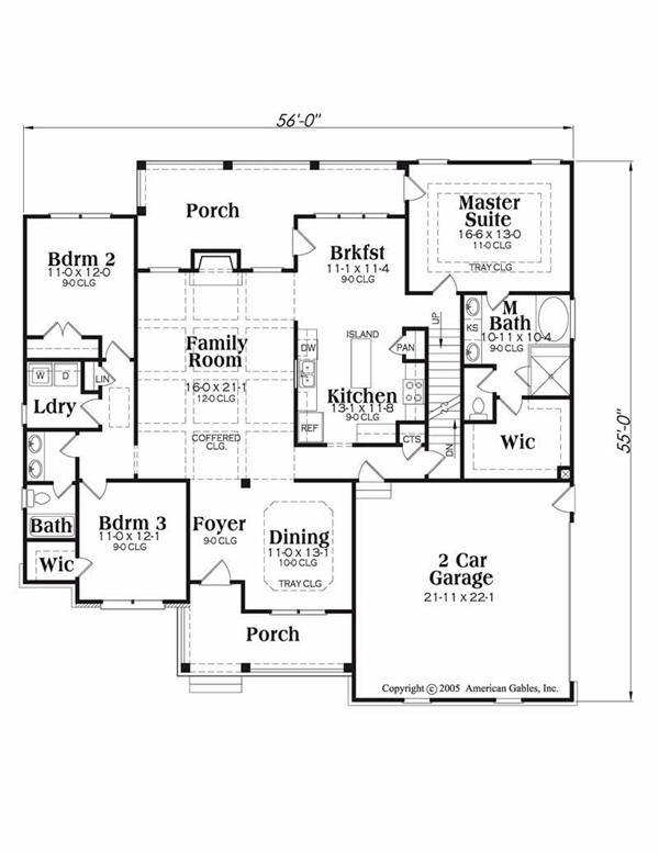 House Plan Madison Main Floor Plan