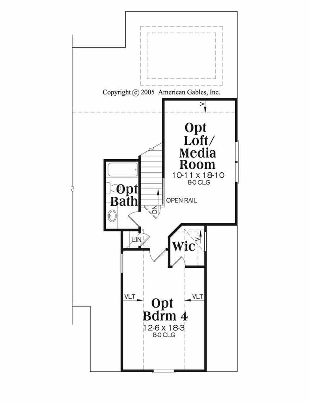 House Plan Madison Second Floor Plan
